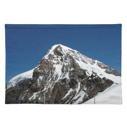Ice and snow in the Swiss Alps Place Mats