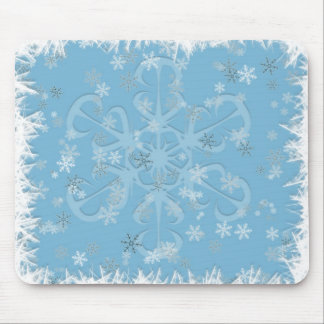 ice and snow mouse pad