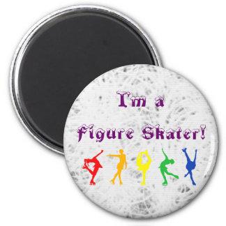 Ice Background Figure Skater Rainbow Magnet