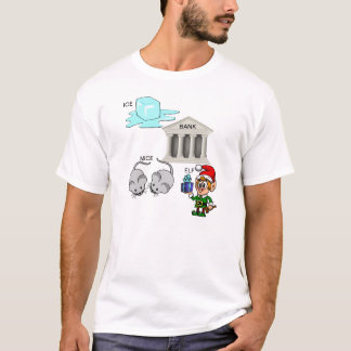 Ice Bank Mice Elf (I Spank Myself) Cartoon T-Shirt
