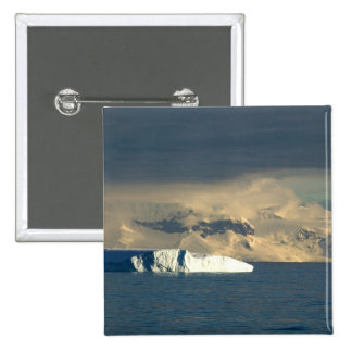 Ice Berg in the starts of the Drake Passage just 15 Cm Square Badge