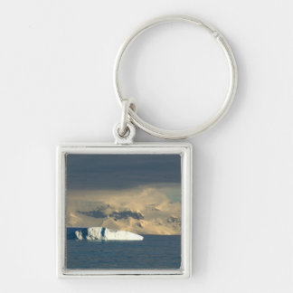 Ice Berg in the starts of the Drake Passage just Silver-Colored Square Key Ring