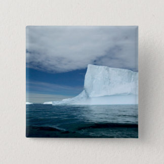 Ice Bergs off of the southern tip of South 2 15 Cm Square Badge