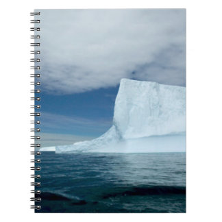 Ice Bergs off of the southern tip of South 2 Spiral Notebook