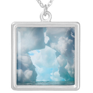 Ice Bergs off of the southern tip of South Silver Plated Necklace