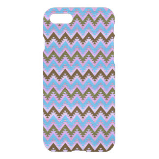 Ice Blue and Brown Aztec Chevron Stripes iPhone 8/7 Case
