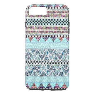 Ice Blue Boho Tribal Stripes Starburst iPhone 7 Plus Case