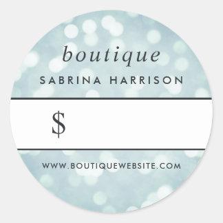 Ice Blue Bokeh | Boutique Price Sticker
