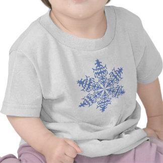 Ice Blue Christmas Winter Snowflake T Shirt
