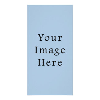 Ice Blue Color Trend Blank Template Photo Card