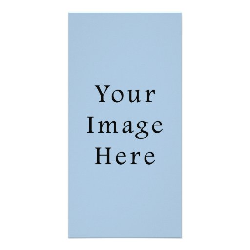 Ice Blue Color Trend Blank Template Photo Greeting Card