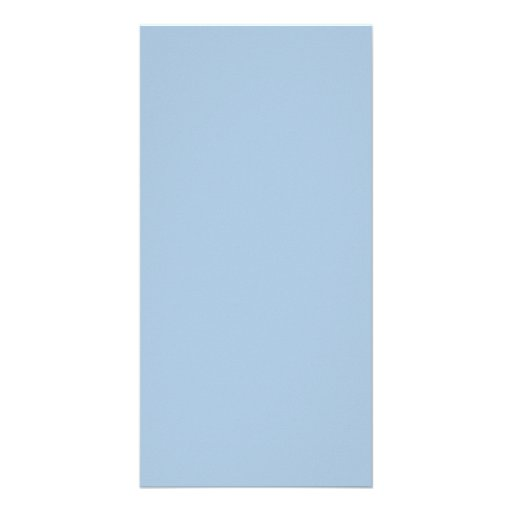 Ice Blue Color Trend Blank Template Personalized Photo Card