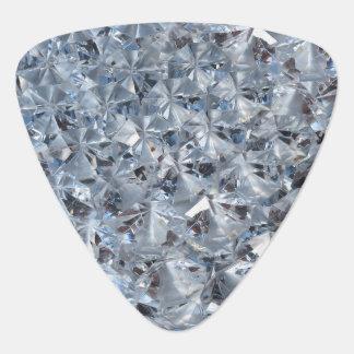 Ice Blue Diamond Crystals Bling Plectrum