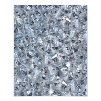 Ice Blue Diamond Crystals Glitter Bling 11.5 Cm X 14 Cm Flyer