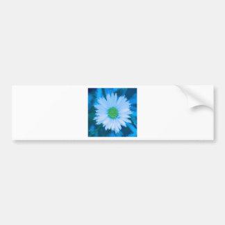 Ice Blue Flower Bumper Sticker