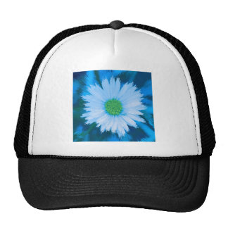 Ice Blue Flower Cap