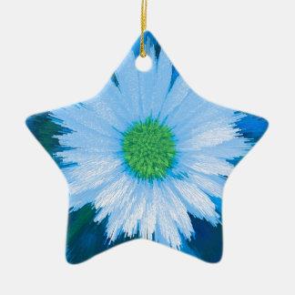 Ice Blue Flower Christmas Ornament