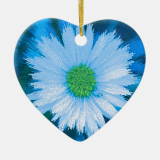 Ice Blue Flower Christmas Ornament