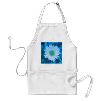 Ice Blue Flower Standard Apron