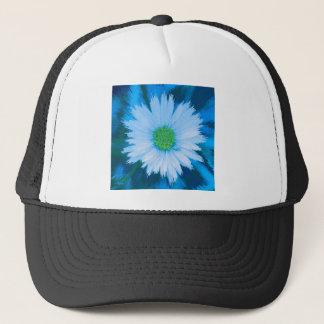 Ice Blue Flower Trucker Hat