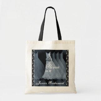 ICE BLUE Junior Bridesmaid Cotton Tote Bag