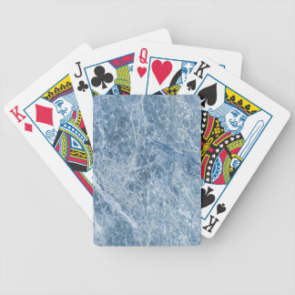 Ice Blue Marble Texture Bicycle Playing Cards