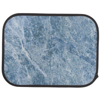 Ice Blue Marble Texture Car Mat