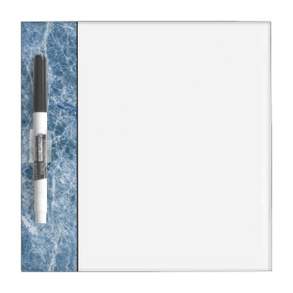 Ice Blue Marble Texture Dry Erase Board