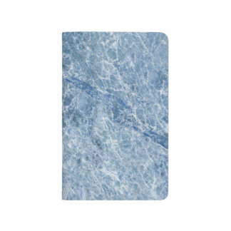 Ice Blue Marble Texture Journal