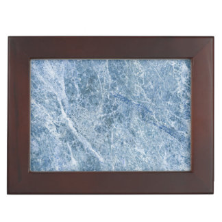 Ice Blue Marble Texture Keepsake Box