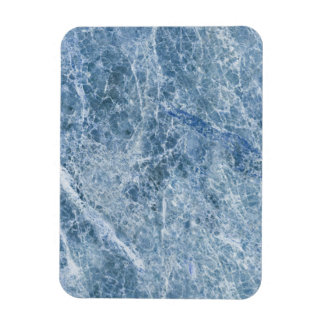 Ice Blue Marble Texture Magnet