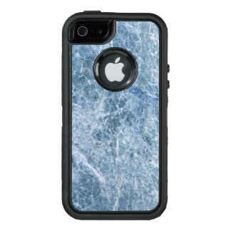 Ice Blue Marble Texture OtterBox Defender iPhone Case