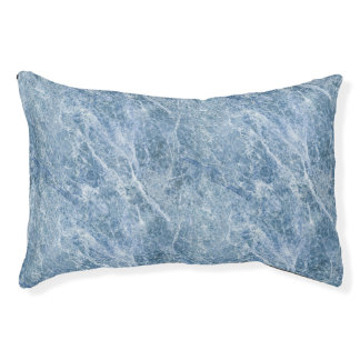 Ice Blue Marble Texture Pet Bed