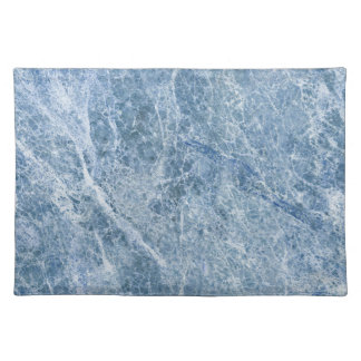 Ice Blue Marble Texture Placemat