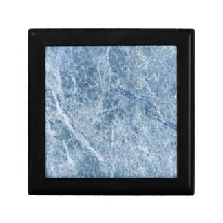 Ice Blue Marble Texture Small Square Gift Box