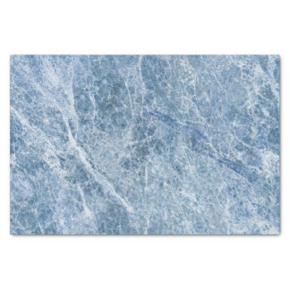 Ice Blue Marble Texture Tissue Paper