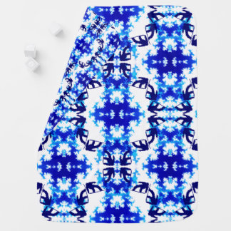 Ice Blue Snowboarder Sky Tile Snowboarding Sport Baby Blankets