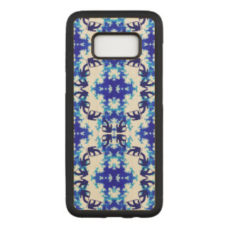 Ice Blue Snowboarder Sky Tile Snowboarding Sport Carved Samsung Galaxy S8 Case