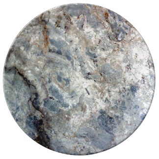 Ice blue white marble stone finish plate