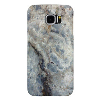 Ice blue white marble stone finish samsung galaxy s6 cases