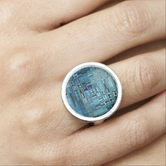 Ice Blue Wonder Design Ring