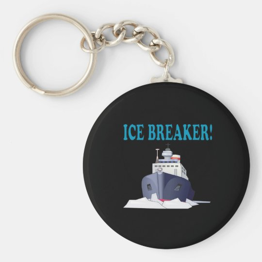 Ice Breaker Basic Round Button Key Ring