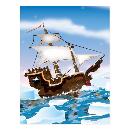Ice Breaker Ship Postcard