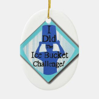 Ice Bucket Challenge Christmas Ornament