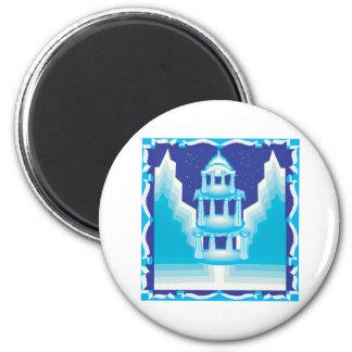 Ice Castle 6 Cm Round Magnet