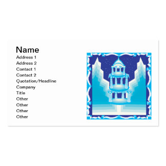 Ice Castle Double-Sided Standard Business Cards (Pack Of 100)