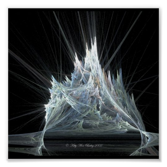 Ice Castle Fractal by Kitty Ann Poster