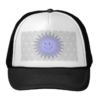 Ice Character with a Smile. Blue and Gray. Trucker Hat