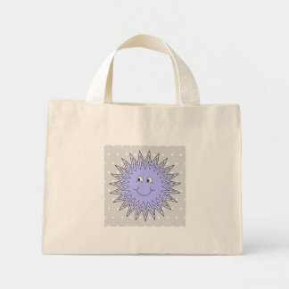 Ice Character with a Smile. Blue and Gray. Mini Tote Bag