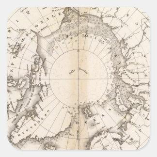 Ice Chart boreal Square Sticker